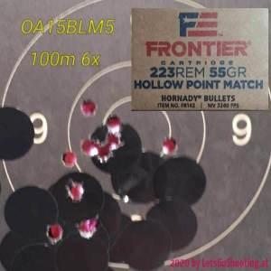 55gr HP Federell Frontier Match - 100m - 07x200704