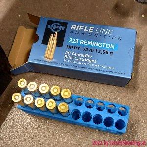 55gr HP BT PPU Rifle Line